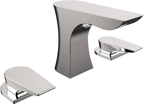 Additional image for 3 Hole Basin & Bath Filler Taps Pack (Chrome).
