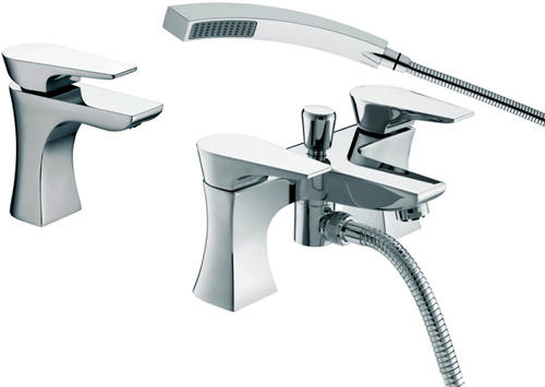 Additional image for Mono Basin & Bath Shower Mixer Taps Pack (Chrome).