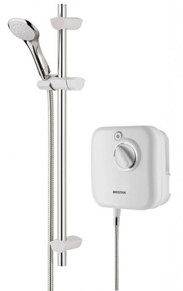 Additional image for 1000 Thermostatic Power Shower In White.