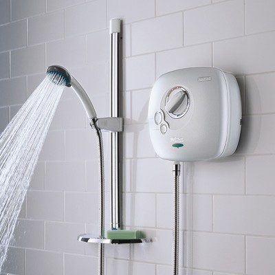 Additional image for 1500 Thermostatic Power Shower In White.