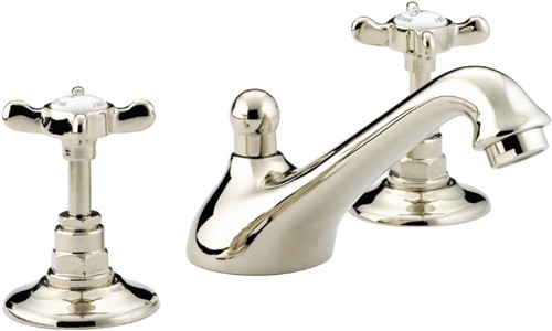 Three Hole Basin Mixer Tap Amp Pop Up Waste Gold Plated
