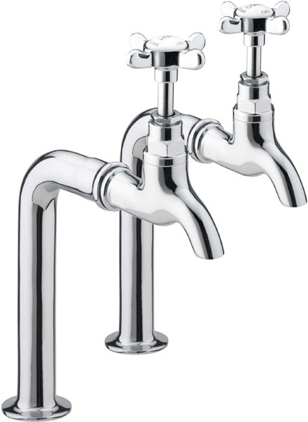 Additional image for Bib Taps With Up Stands (Pair, Chrome Plated).