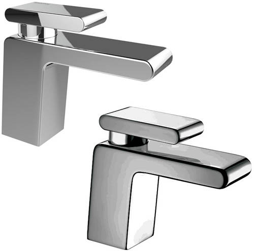 Additional image for Basin & 1 Hole Bath Filler Taps Pack (Chrome).