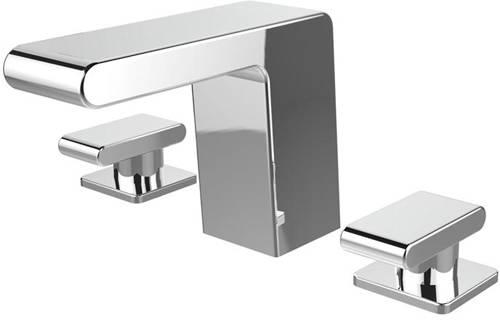 Additional image for Basin & 3 Hole Bath Filler Taps Pack (Chrome).