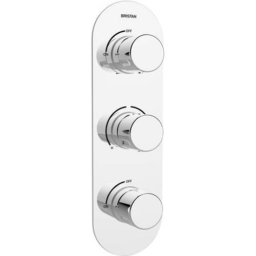 Additional image for Thermostatic Dual Shower Valve With 2 x Stopcocks.