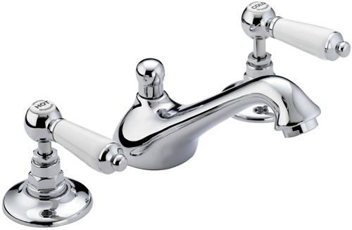 3 Hole Basin & Bath Shower Mixer Taps Pack (Chrome