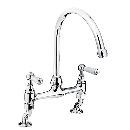 Additional image for Deck Mounted Kitchen Mixer Tap (Chrome).