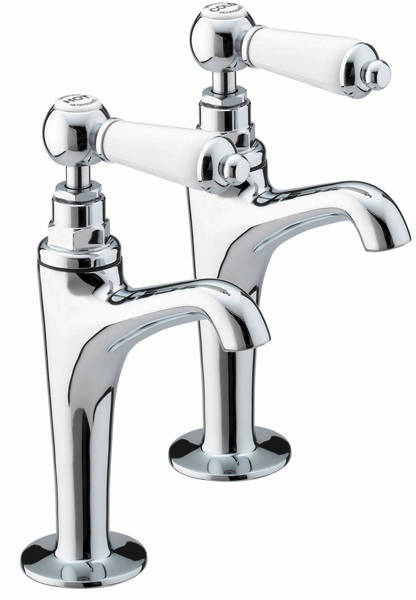 Additional image for High Neck Pillar Kitchen Taps (Chrome).