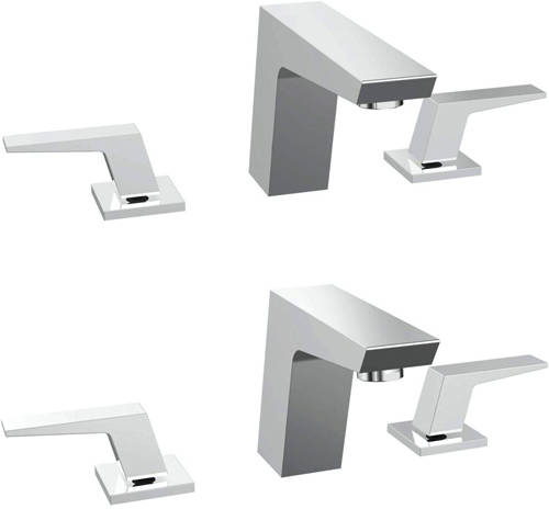 Additional image for 3 Hole Basin & Bath Filler Tap Pack (Chrome).