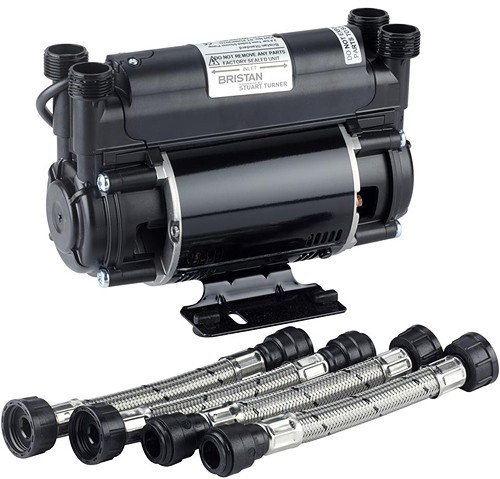 Additional image for Twin Flow Single Speed Impeller Shower Pump 2 Bar (High Boost).