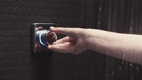 "Additional image for Digital Shower Valve, Ceiling Arm & 8"" Shower Head (HP)."
