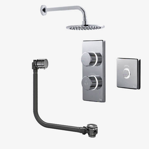 Additional image for Digital Shower Pack, Bath Filler, Remote & Round Head (HP).
