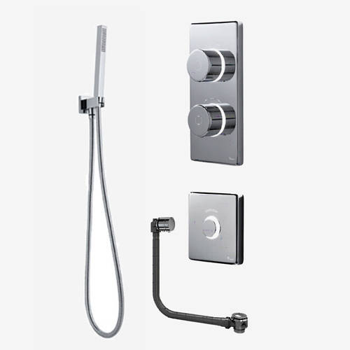 Additional image for Twin Digital Shower Pack, Filler, Shower Kit & Remote (HP).