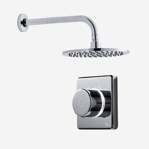 "Additional image for Digital Shower Valve, Wall Arm & 8"" Shower Head (LP)."