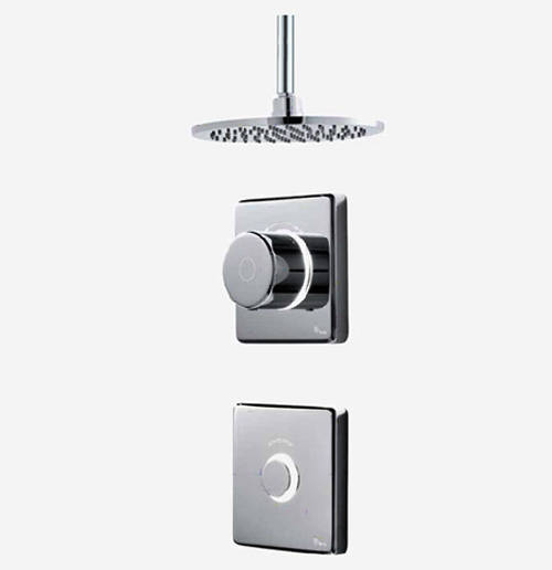 "Additional image for Digital Shower Valve, Remote & 8"" Round Shower Head (LP)."