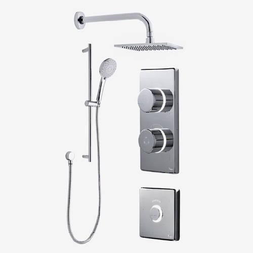 Additional image for Digital Shower Pack, Slide Rail, Square Head & Remote (LP).