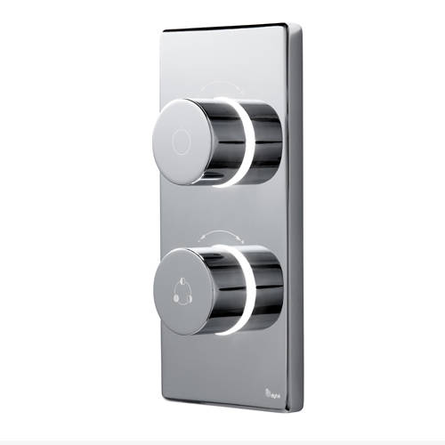 "Additional image for Twin Digital Shower Pack, Bath Filler & 8"" Round Head (LP)."