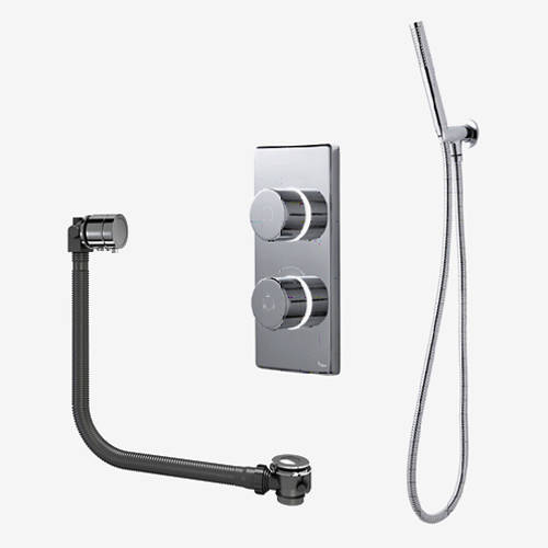 Additional image for Twin Digital Shower Pack, Bath Filler & Shower Kit (LP).