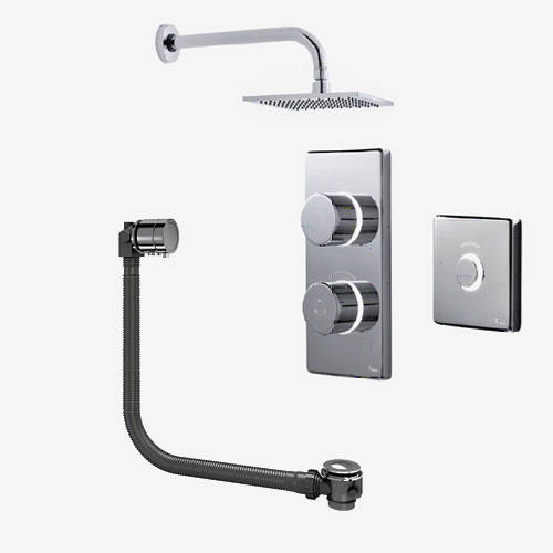 Additional image for Digital Shower Pack, Bath Filler, Remote & Square Head (LP)