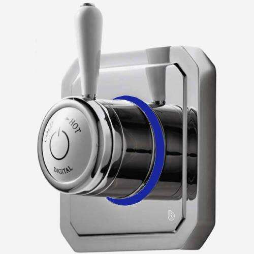 """Additional image for Digital Shower Valve, Remote & 9"""" Shower Head (HP)."""