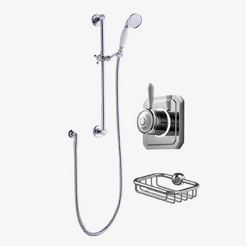Additional image for Digital Shower Valve, Processor, Slide Rail Kit & Basket (HP).