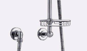 "Additional image for Digital Shower Pack, Rail, Basket, 9"" Head & Remote (HP)."