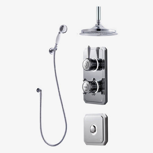 "Additional image for Twin Digital Shower Pack, Spray Kit, 9"" Head & Remote (HP)."