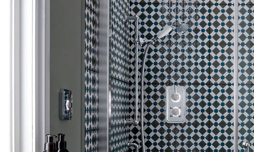 """Additional image for Twin Digital Shower Pack With Slide Rail & 9"""" Head (HP)."""