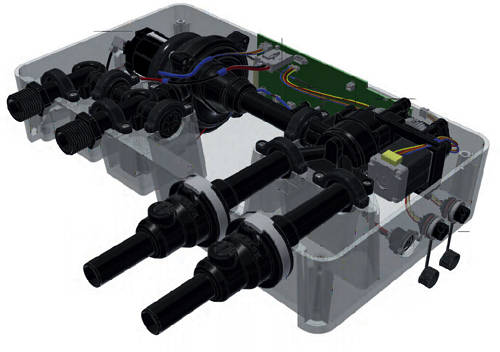 "Additional image for Digital Shower Pack, Rail, Basket, 9"" Head & Remote (HP)."