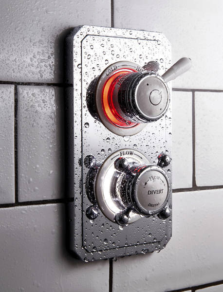 "Additional image for Twin Digital Shower Pack With Slide Rail & 6"" Head (HP)."