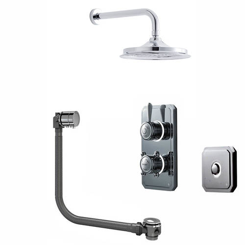 "Additional image for Digital Shower Pack, Bath Filler, 9"" Head & Remote (HP)."