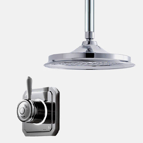 "Additional image for Digital Shower Valve, Ceiling Arm & 9"" Shower Head (LP)."