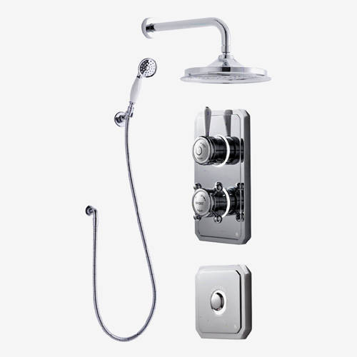 "Additional image for Twin Digital Shower Pack, Spray Kit, 9"" Head & Remote (LP)."