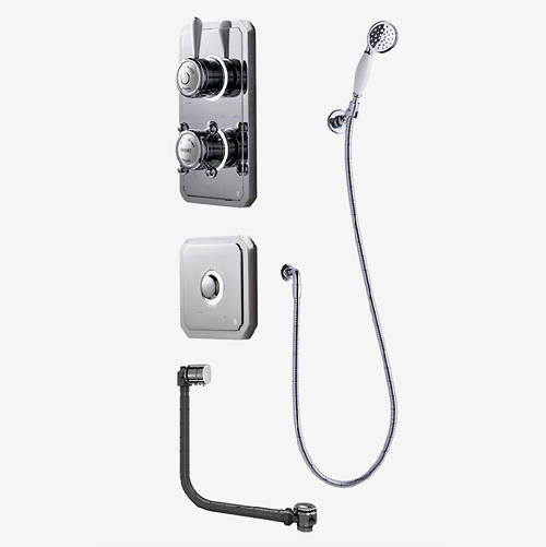 Additional image for Digital Shower Pack, Bath Filler, Shower Kit & Remote (LP).
