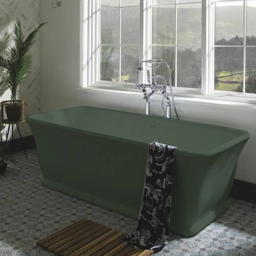 Additional image for Magnus ColourKast Bath 1680mm (Khaki Green).