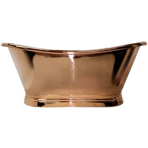 Additional image for Copper Boat Bath 1500mm (Copper Inner/Copper Outer).