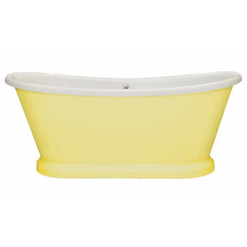 Additional image for Painted Acrylic Boat Bath 1580mm (White & Dayroom Yellow).