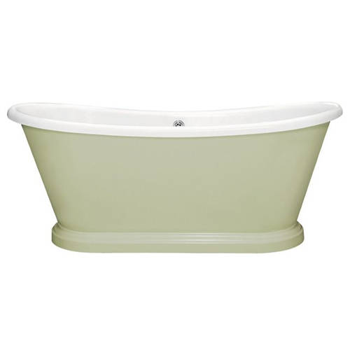 Additional image for Painted Acrylic Boat Bath 1800mm (White & Mizzle).
