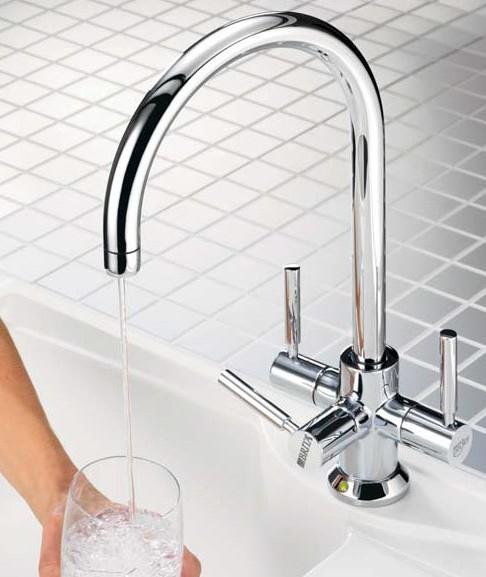 Ceto Modern Kitchen Water Filter Tap Chrome Brita