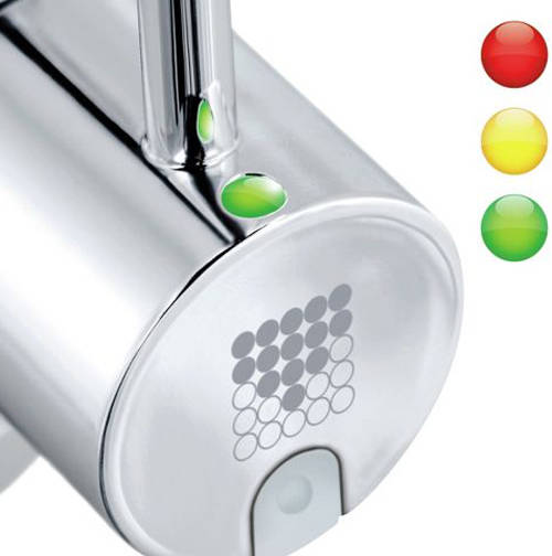 Dolce 3 In 1 Filter Kitchen Tap With Led Lights Chrome