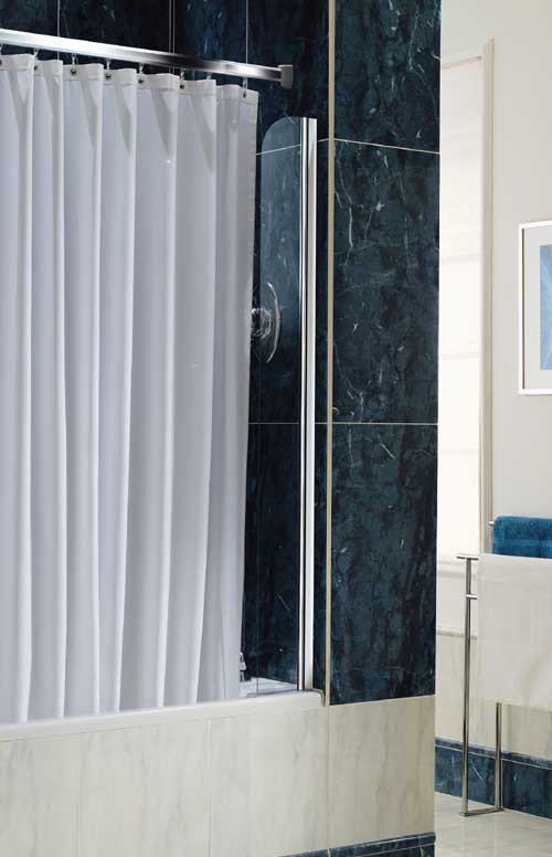Chrome Shower Curtain Screen Coram Screens C 07scs15cucc