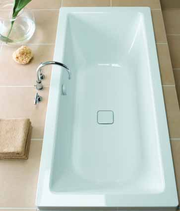 Additional image for Cono Duo Designer Steel Bath. No Tap Hole. 1800x800mm.