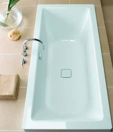 Additional image for Cono Duo Designer Steel Bath. No Tap Hole. 2000x1000mm.