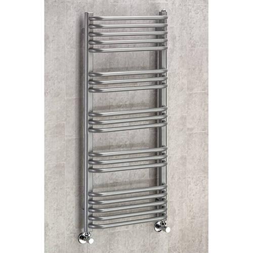 Additional image for Heated Towel Rail & Wall Brackets 1100x600 (Grey Aluminium).