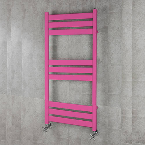 Additional image for Heated Towel Rail & Wall Brackets 1080x500 (Heather Violet).