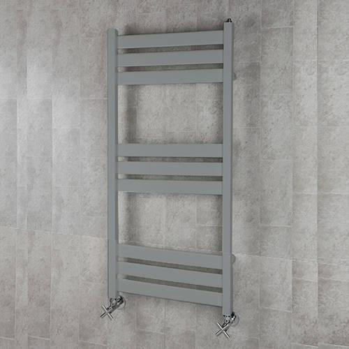 Additional image for Heated Towel Rail & Wall Brackets 1080x500 (Window Grey).