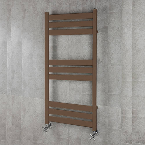 Additional image for Heated Towel Rail & Wall Brackets 1080x500 (Pale Brown).