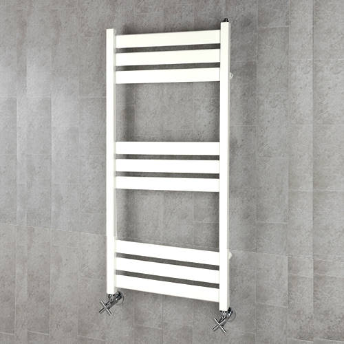 Additional image for Heated Towel Rail & Wall Brackets 1080x500 (Pure White).