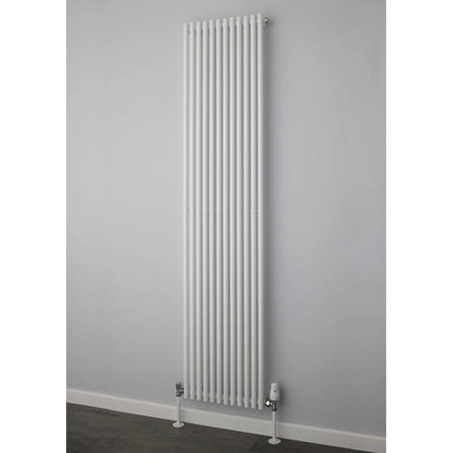 Additional image for Chaucer Single Vertical Radiator 1820x300mm (White).