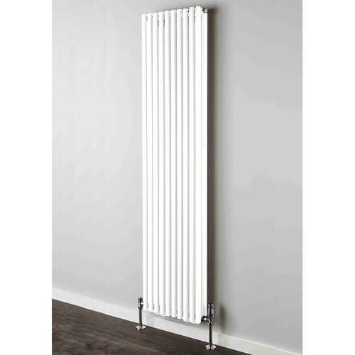 Additional image for Chaucer Double Vertical Radiator 1820x300mm (White).